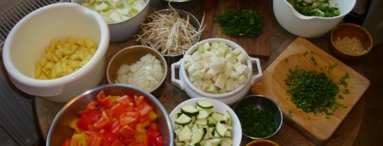 Kochen mit Schülern