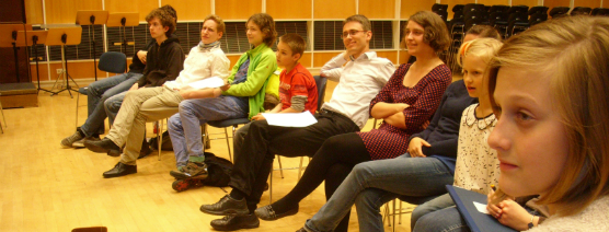 Probenworkshop Komponistenklasse beim MDR Kinderchor 2013_Foto Archiv